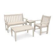 POLYWOOD® Vineyard 4-Piece Bench Seating Set PWS356-1