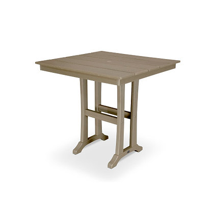 "In Stock POLYWOOD® Farmhouse 37"" Counter Table PLR81-T1L1(NO SHIP)"