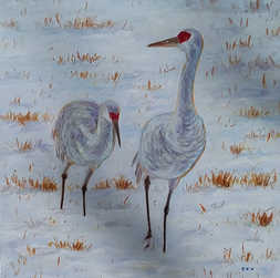Cranes In The Snow