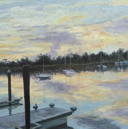 Sailboats at Dawn