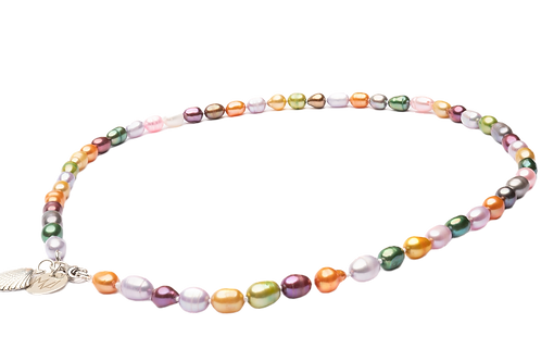 Freshwater multicolor pearls necklace ''Rainbow''