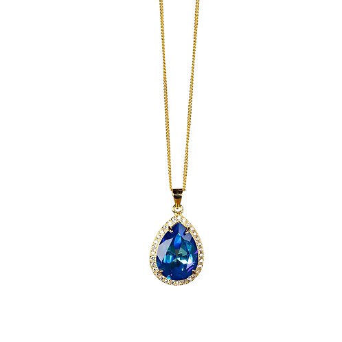 Necklace with crystal ''Royal blue''