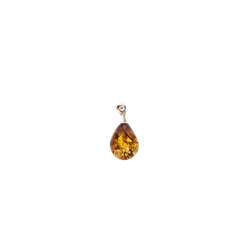 Silver pendant ''Baltic'' with amber