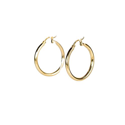 Circle Hoop earrings gilded