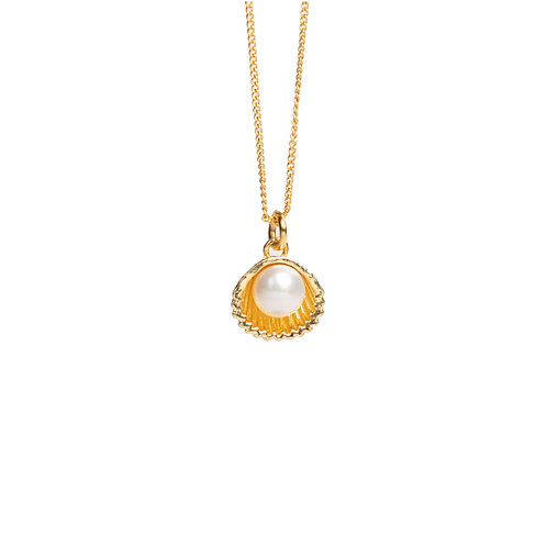 Silver necklace ''Shell'' with freshwater pearl