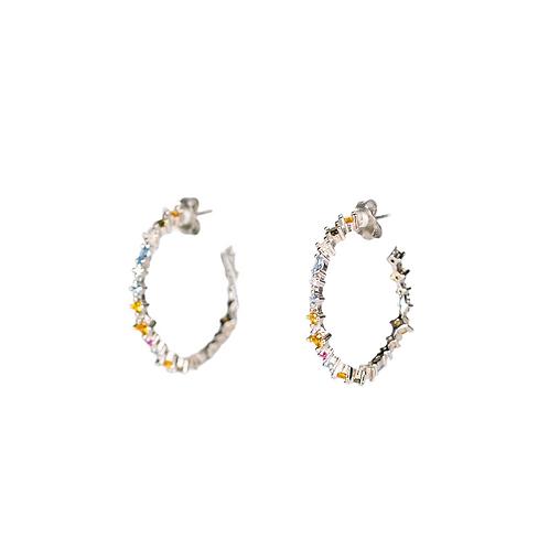 Circle Hoop earrings ''Summer''