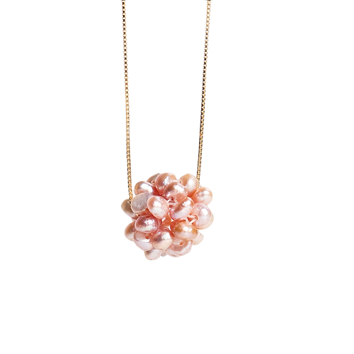 Necklace with  pearls pendant