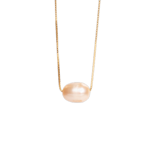 Gilded necklace with pearl