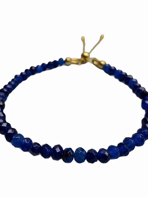Silver bracelet with sapphire GILDED