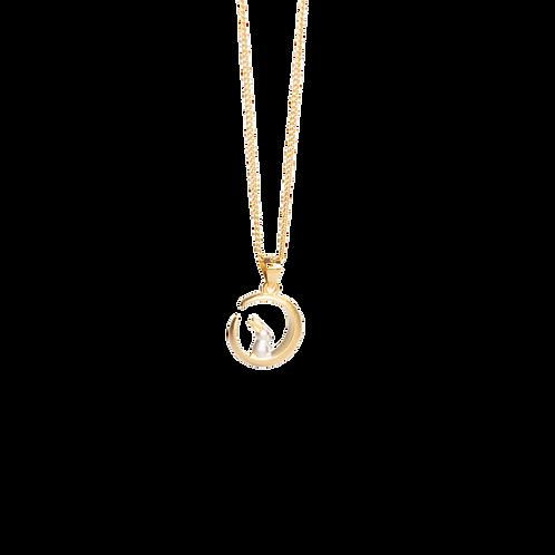 Silver necklace ''Bunny''