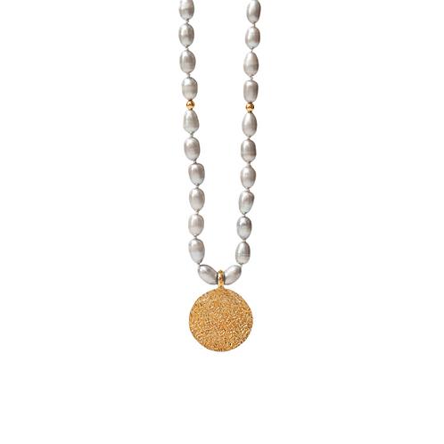 Grey pearls necklace