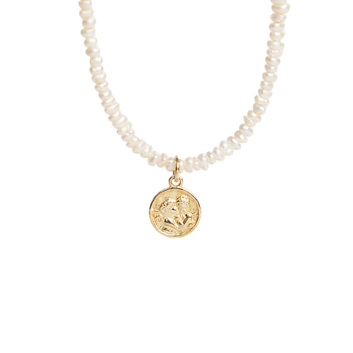 Necklace with pearls ''Angel''