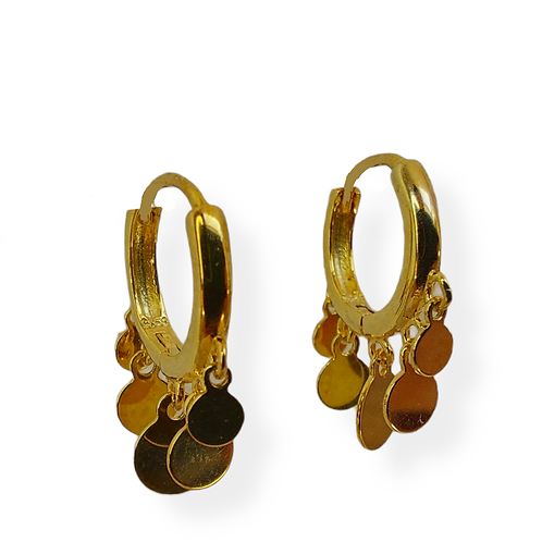Silver earrings with round pendants GILDED