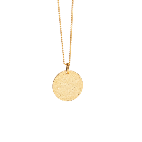 """Silver gilded necklace with pendant medallion """"Moon''"""