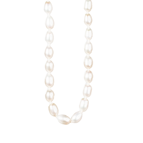 White pearls necklace with silver clasp