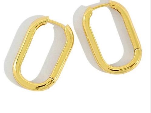 Silver earrings hoops