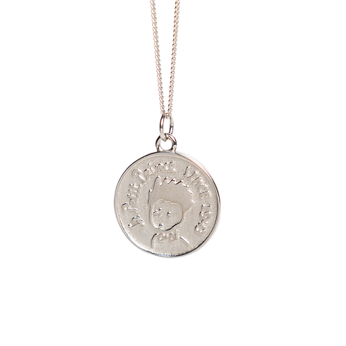 """Silver necklace with pendant medallion """"Petit prince"""""""