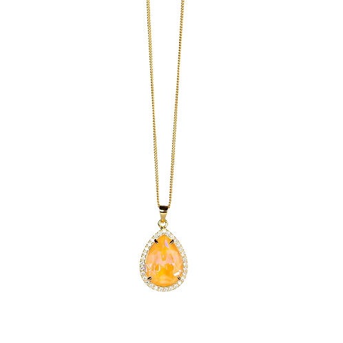 Necklace with crystal ''Peach''