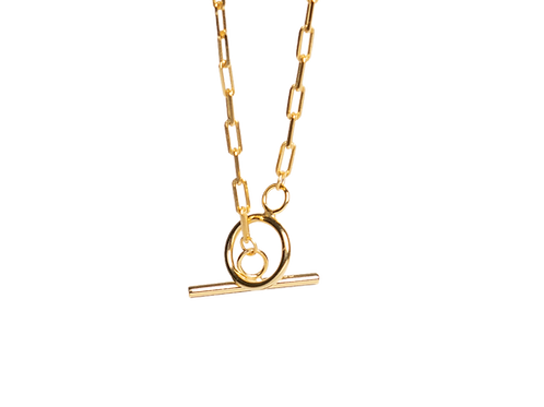 Modern silver gilded chain for woman