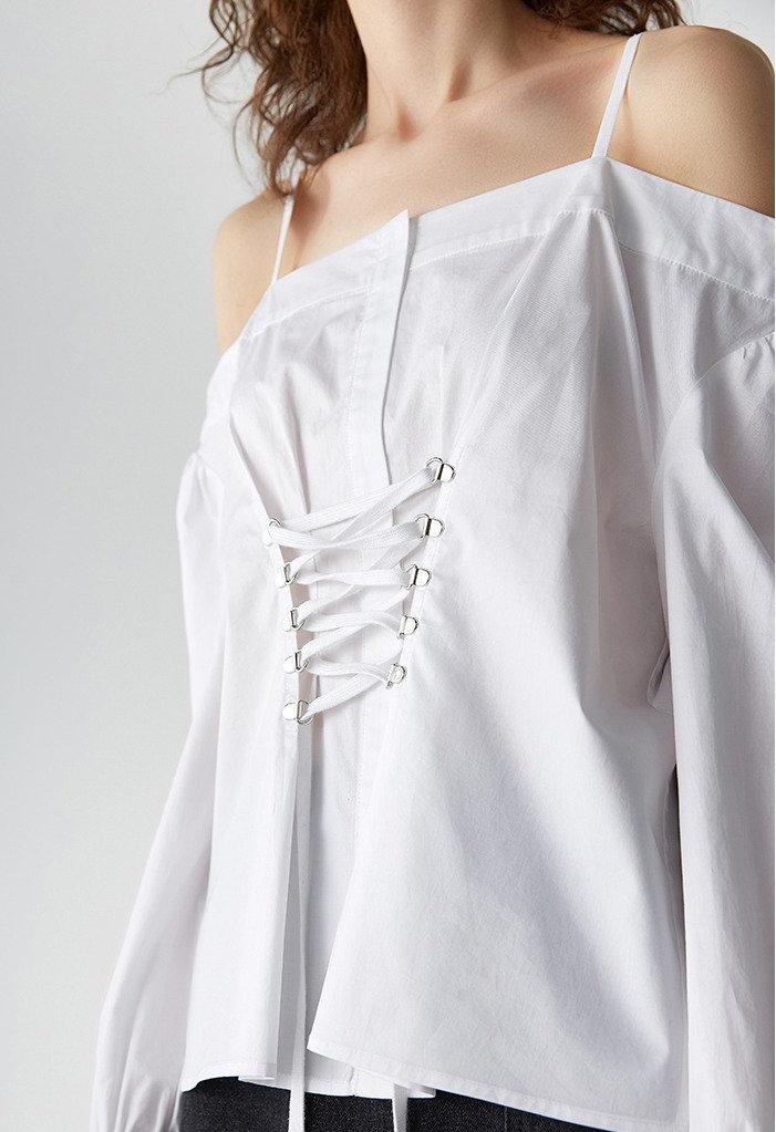 Блузка со шнуровкой   s22store