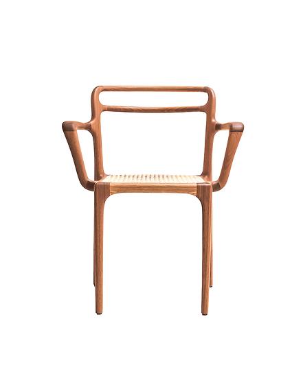 Cadeira Cariri design Andrea Borgogni palha frente