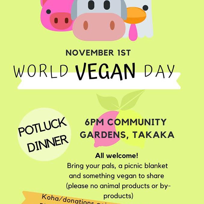 World Vegan Day Pot Luck Dinner