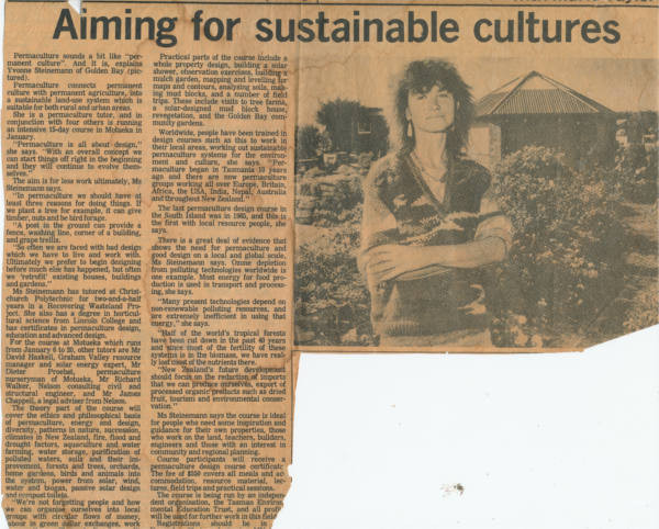 Aiming for sustainable cultures