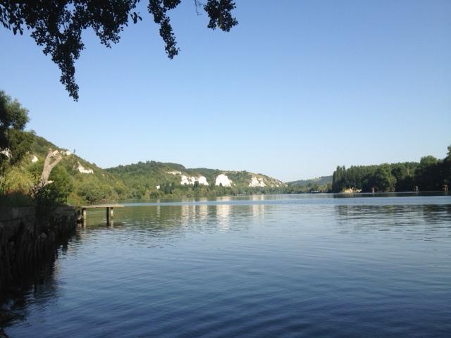 La Seine vue de Laroque