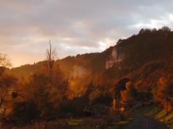 Le haut des falaises en automne