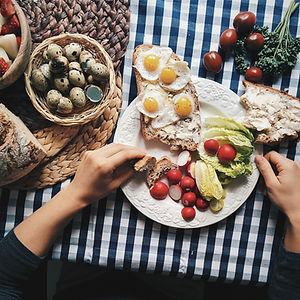 Œufs de caille Petit-déjeuner