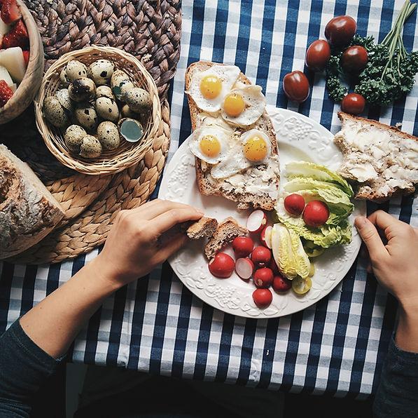 Vagtelæg morgenmad