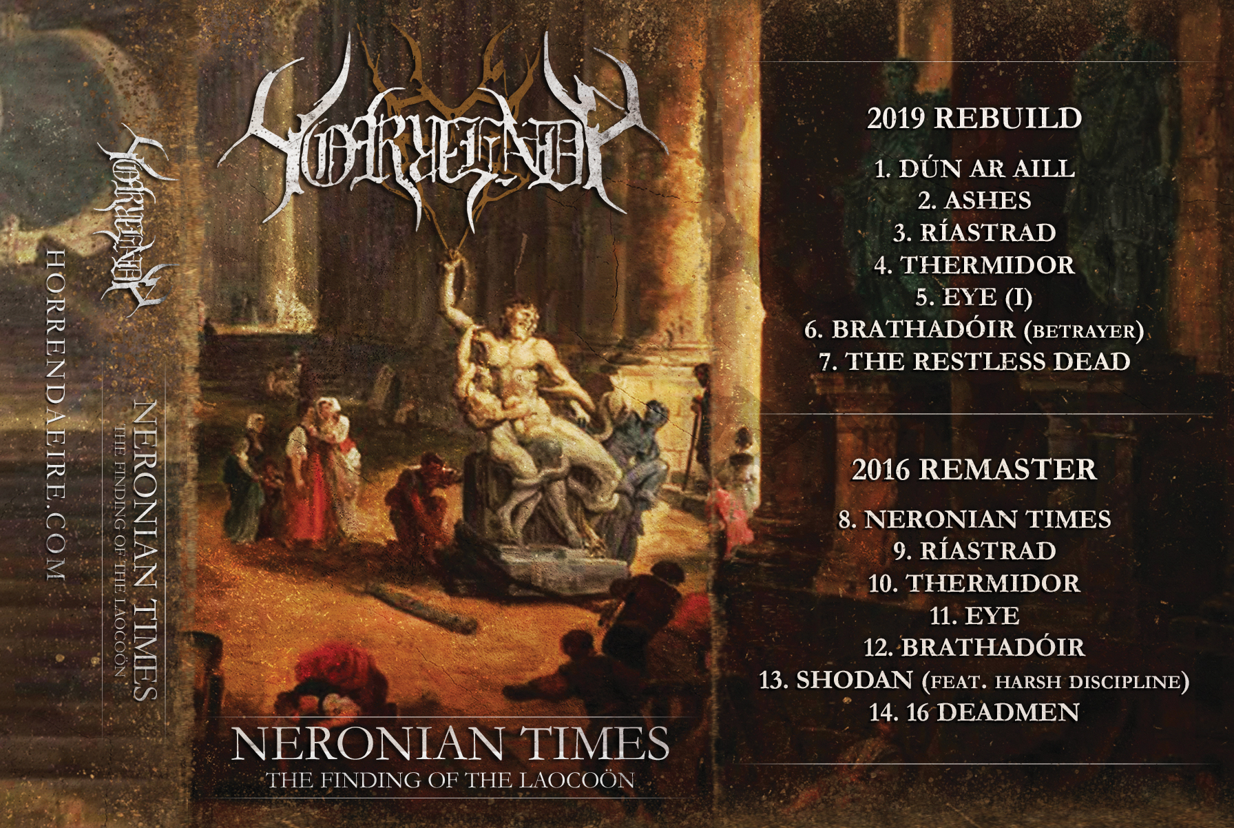 Horrenda - Neronian Times (Remaster) Cassette Case 1