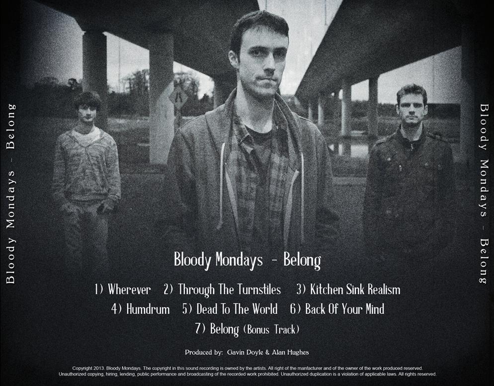 Bloody Mondays - Belong (Back Cover)