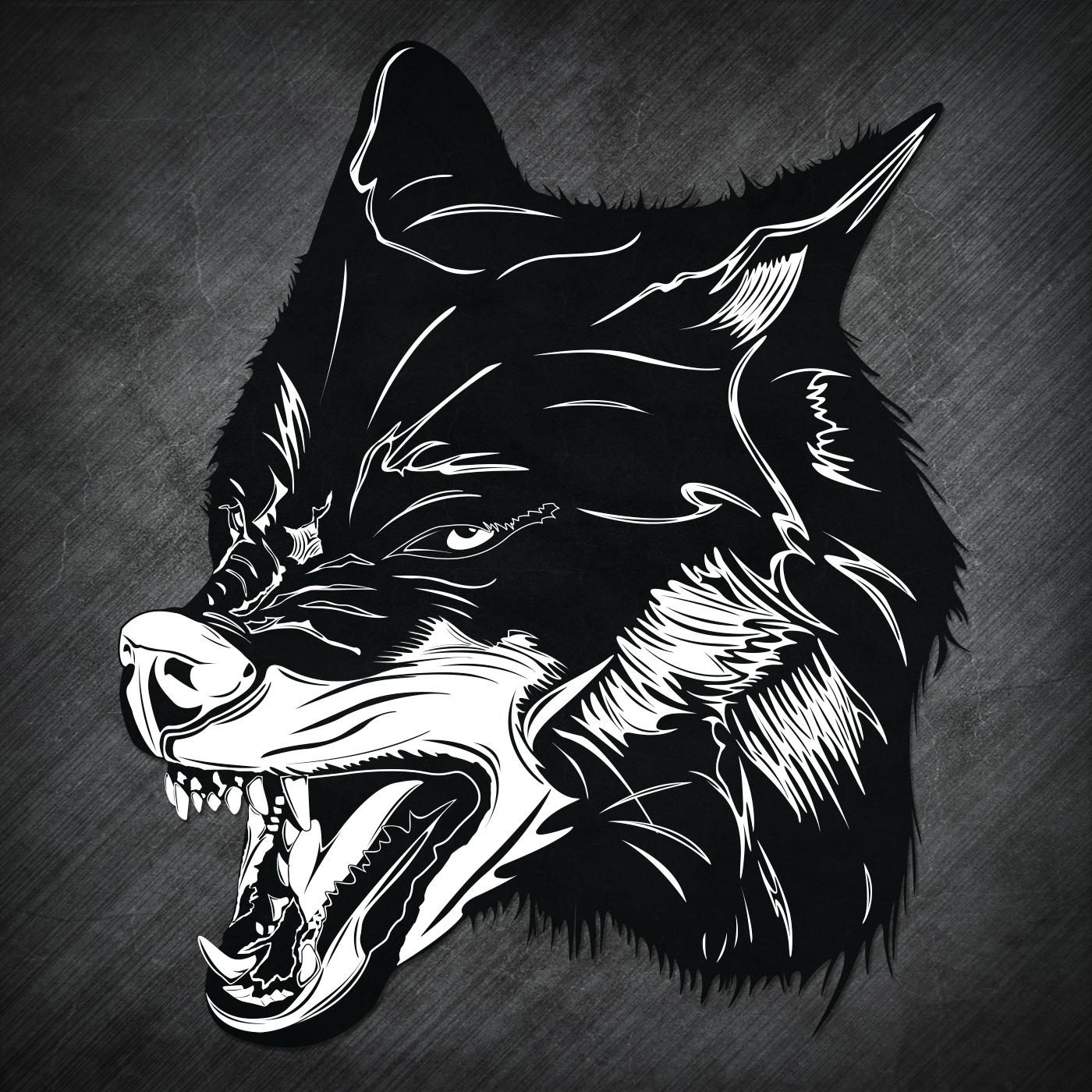 Black Shuck Wolf Head 1