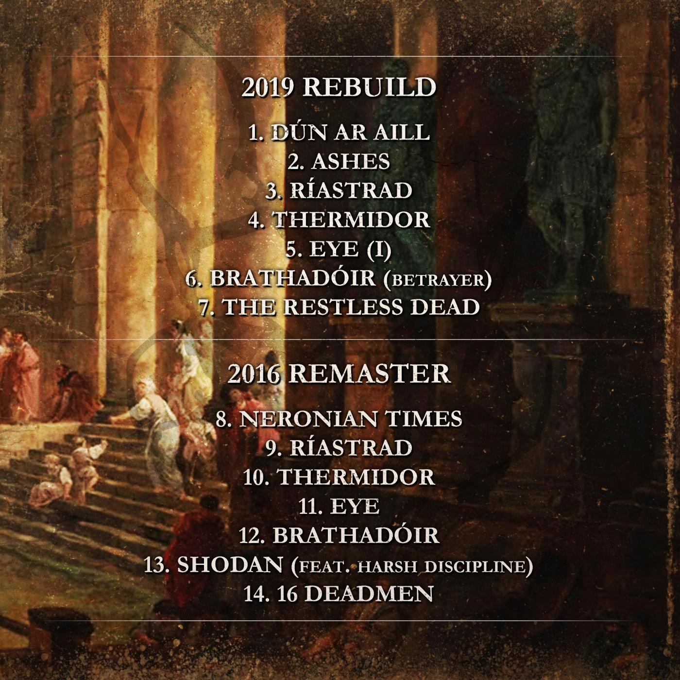 Horrenda - Neronian Times (Remaster) Back Cover