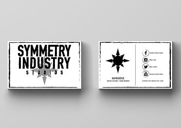 Symmetry Industry Studios Business Cards
