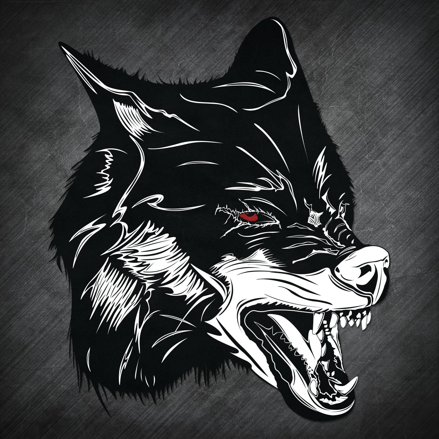 Black Shuck Wolf Head 2