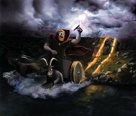 Ilustration, Tor med hammer, Magma Geopark