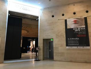 2018年パリSNBA美術展,カルセールド ルーブル内にて