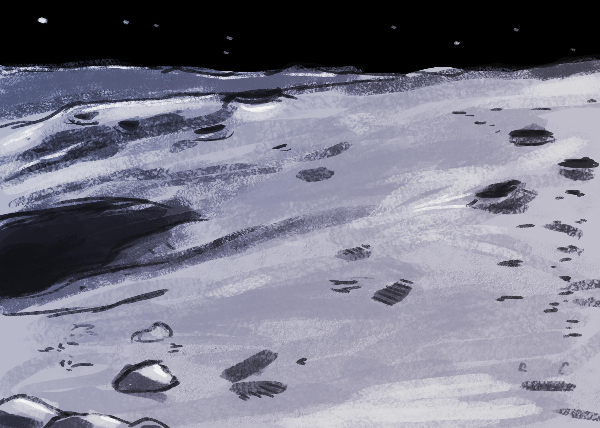 Moon Surface Background 2