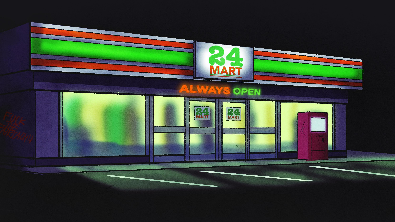 Convenience store exterior