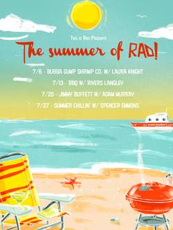 Summer of rad poster