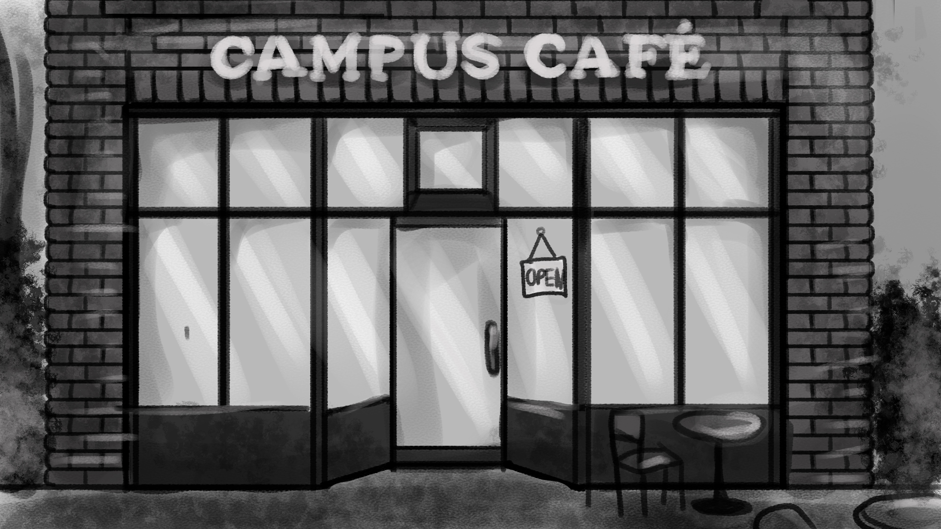Cafe Exterior Background