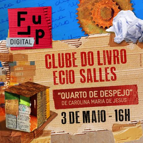 Clube do Livro Ecio Salles - 3 de maio. Marque na agenda!