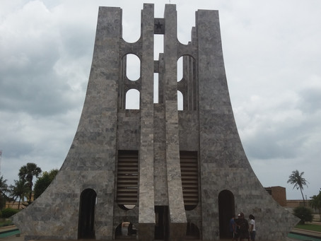 The Kwame Nkrumah Mausoleum in Accra, Ghana