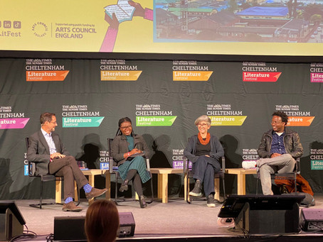 Julia Gallagher joined Peace Medie and Simukai Chigudu at the Cheltenham Literary Festival