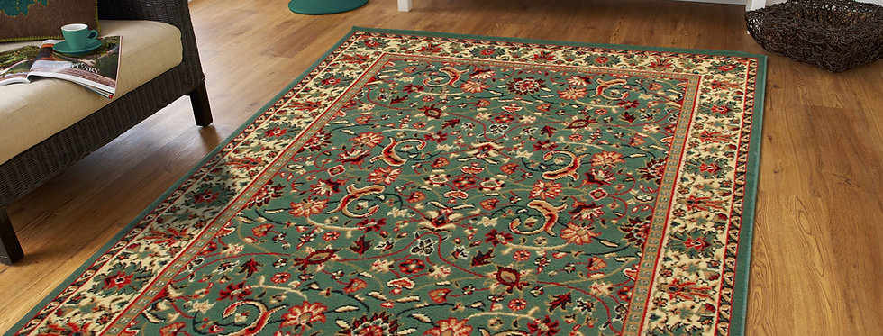 Traditional Persian Area Rugs Green