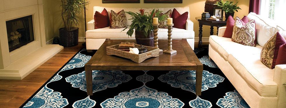 Modern Area Rugs for Living Room Black