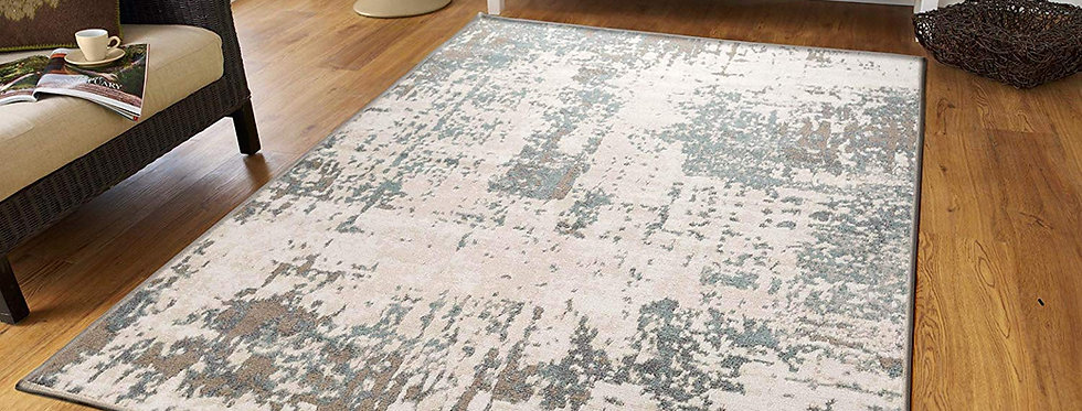 Modern Distressed Area Rugs Living Room, Gray