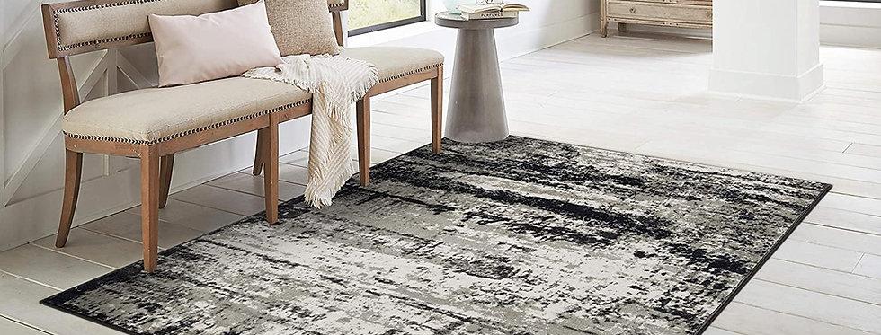 Modern Area Rugs Gray Black White